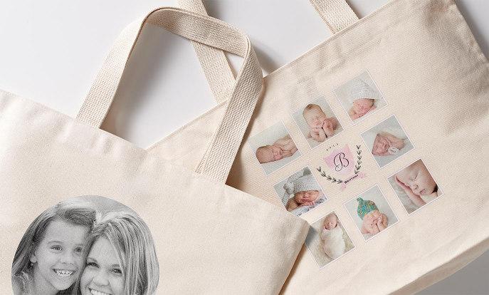Bolsas de tela con foto en Zazzle