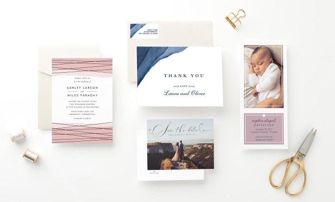 Tarjetas e invitaciones personalizadas