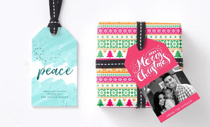Etiqueta tus regalos de Navidad con diseños personalizados
