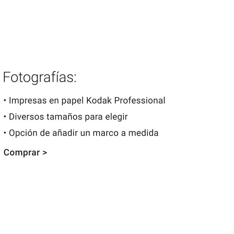 Características de las fotografías