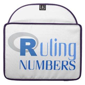 Funda para portátil de Ruling numbers Fundas Para Macbooks
