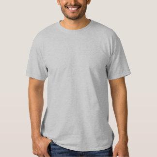 GRIS bordado personalizado de la camiseta de los