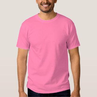 ROSA bordado personalizado de la camiseta de los