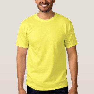 AMARILLO bordado personalizado de la camiseta de