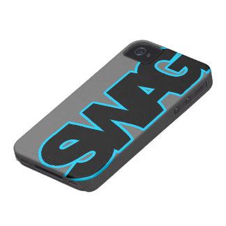 SWAG azul de neón iPhone 4 Case-Mate Carcasa