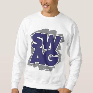 SWAG - azul y gris Pulovers Sudaderas
