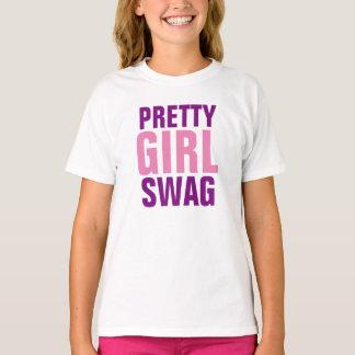Swag bonito del chica camiseta