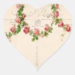 Swag color de rosa francés calcomania corazon