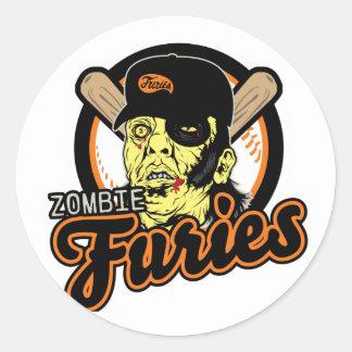 Swag de las furias del zombi pegatina redonda