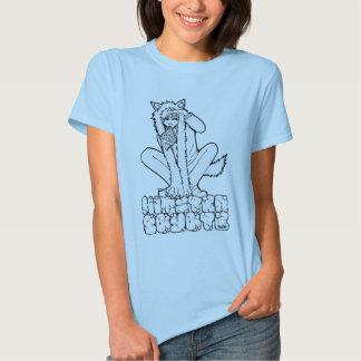 Swag del coyote de la señora camisetas