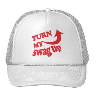 Swag rojo del gorra blanco para arriba