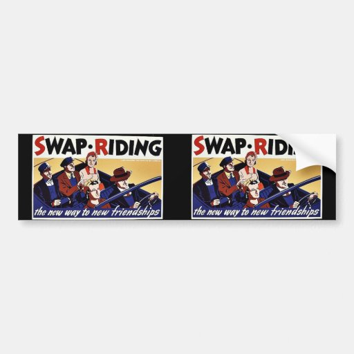 Swap.Riding, la nueva manera a las nuevas amistade Pegatina De Parachoque
