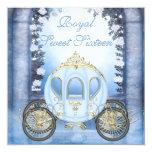 Sweet 16 de princesa Carriage Enchanted azul Anuncio Personalizado