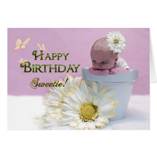 Sweetie del feliz cumplea os beb en maceta felicitacion - Feliz cumpleanos bebe 1 ano ...