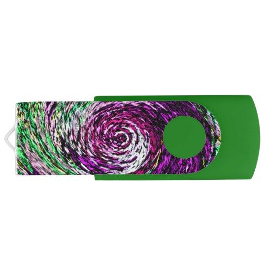 Swirly personalizable púrpura y verde de Twirly Memoria USB
