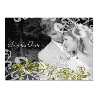 Swirly su invitación del boda de la foto