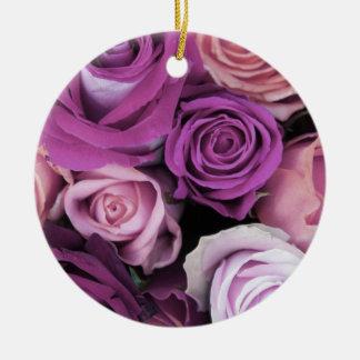 Swirly subió el ramo adorno redondo de cerámica