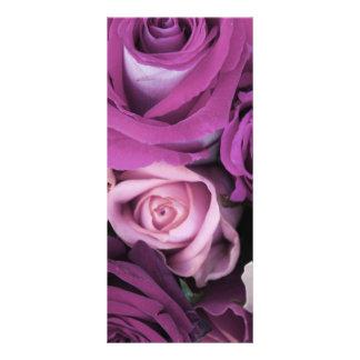 Swirly subió el ramo diseños de tarjetas publicitarias
