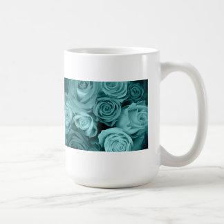 Swirly subió el ramo taza de café