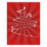 swril del árbol de navidad tarjetas publicitarias