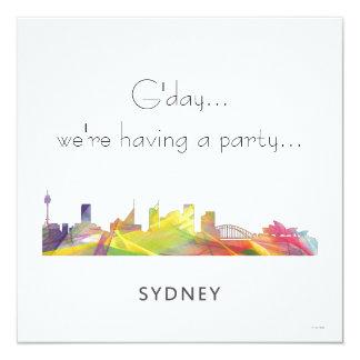 SYDNEY, HORIZONTE WB1 DE NSW AUSTRALIA INVITACIÓN 13,3 CM X 13,3CM