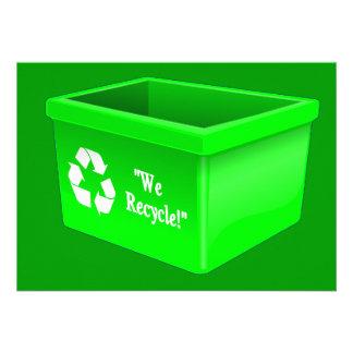 sym vacío de la muestra de la papelera de reciclaj