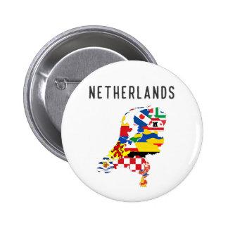 Symb holandés del mapa de la bandera de la chapa redonda de 5 cm