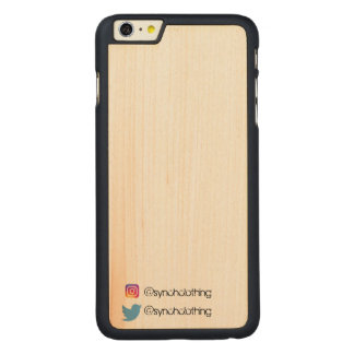 Synch calificó el iPhone 6/6s más el caso Funda De Arce Para iPhone 6 Plus De Carved