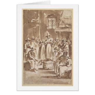 T34029 una reunión de oración del Quaker pluma y Tarjeton