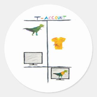 T-Cuenta de T-Rex del pegatina de la contabilidad