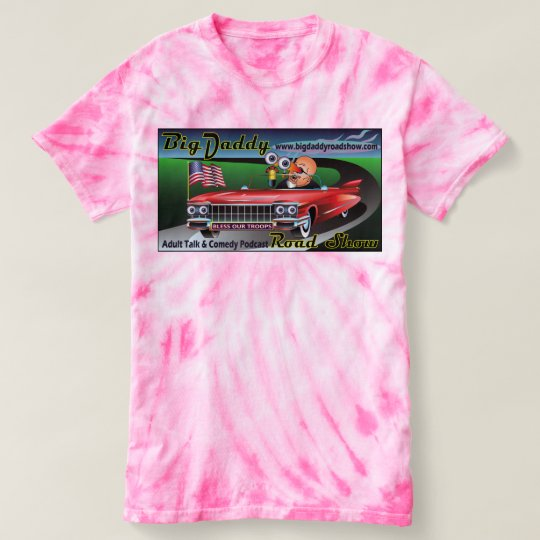 T del Lazo-Dado, la camiseta grande rosada de la