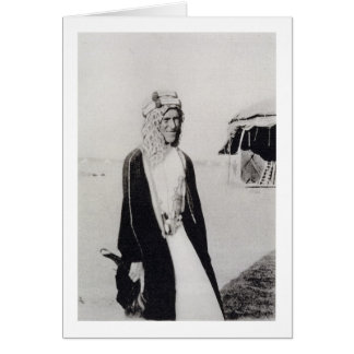 T.E. Lorenzo en el vestido árabe (foto de b/w) Tarjeta De Felicitación