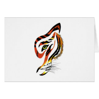 ¡T para los tigres! Tarjeta De Felicitación