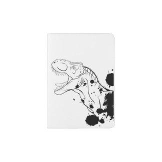 T-Rex (blanco y negro) Portapasaportes