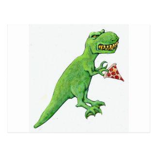 T-Rex con la pizza Postal
