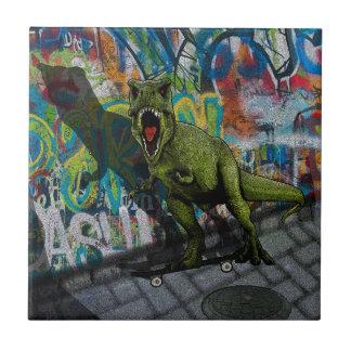 T-Rex urbano Azulejo Cuadrado Pequeño