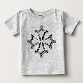 T-shirt bebé gris claramente Cruz occitana Camiseta De Bebé