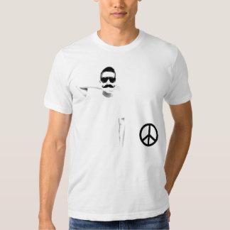 T-shirt Crew Ad Moustache Peace and Moustache