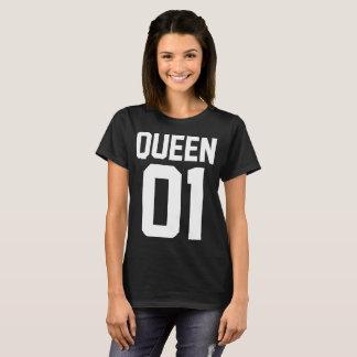 T-shirt de Amor para parejas King y Queen en Negro Camiseta