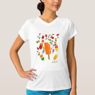 Camiseta deporte mujer Popsicle Chaos by Ana Lopez