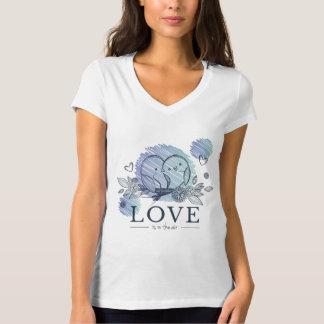 T - shirt Mujer Blanco Cuello V Animales Camiseta