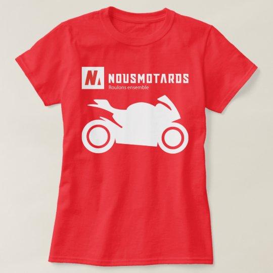 T-Shirt Nousmotards Mujer Deportivo Camiseta
