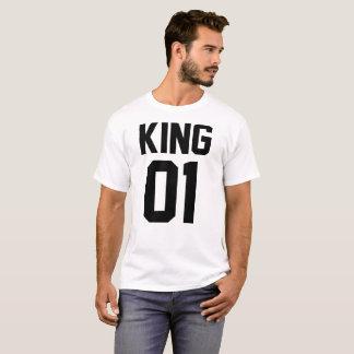 T-Shirt para Hombre de Amor Pareja King y Queen Camiseta