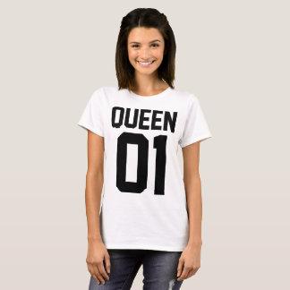 T-Shirt para Mujer de Amor Pareja King y Queen Camiseta
