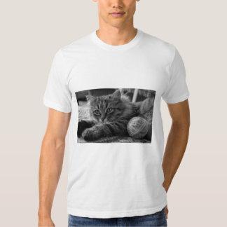 T - shirt The cat' s blanco está cortado L Camisetas
