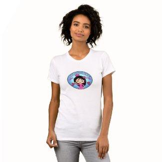Camisetas de Flamenca para mujer Celeste y Rosa