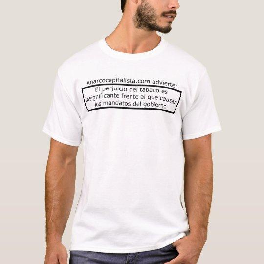 Tabaco vs mandatos camiseta
