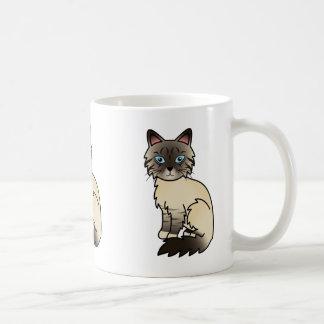 Tabby Birman del punto del sello/gato de Ragdoll Taza De Café