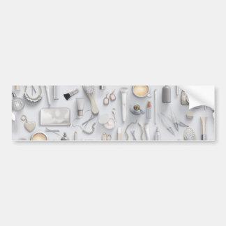 Tabla blanca de la vanidad pegatina para coche