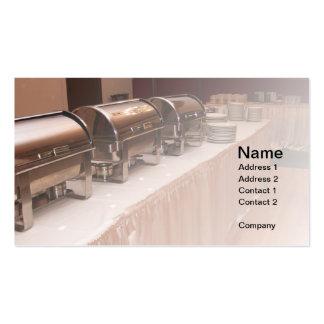 tabla de comida fría plantilla de tarjeta de visita